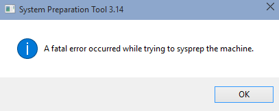 Setup Error message